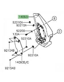 Cache pivot gauche Kawasaki Vulcan S (2015 et +) | Réf. 140930115