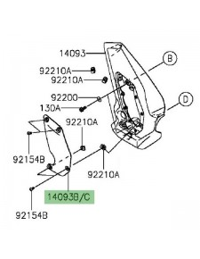 Enjoliveur de cache pivot gauche Kawasaki Vulcan S (2015 et +) | Moto Shop 35