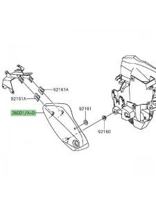 Cache latéral gauche sous selle Kawasaki Vulcan S (2015 et +) | Moto Shop 35