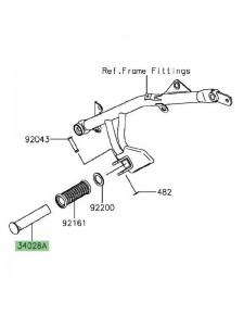 Repose-pieds arrière Kawasaki Vulcan S (2015 et +) | Réf. 340280344
