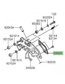 Protection de talon repose-pieds avant droit Kawasaki Vulcan S (2015 et +) | Réf. 550201880