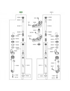 Bras de fourche gauche Kawasaki Vulcan S (2015 et +) | Moto Shop 35