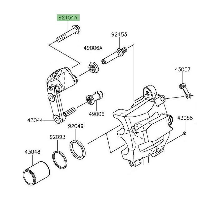 Vis M8x45 fixation étrier de frein avant Kawasaki Vulcan S (2015 et +) | Réf. 921541706