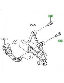 Vis M8x25 fixation étrier de frein arrière Kawasaki Vulcan S (2015 et +) | Réf. 120CB0825