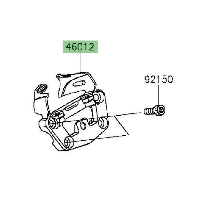 Pontet support compteur Kawasaki Vulcan S (2015 et +) | Réf. 46012035018R
