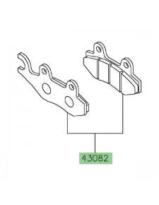 Plaquettes de frein avant ou arrière Kawasaki Z125 (2019 et +)   Réf. 430820128
