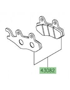 Plaquettes de frein arrière Kawasaki Z400 (2019 et +) | Réf. 430820128
