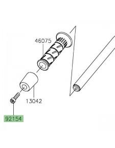 Vis M8x30 fixation embout de guidon d'origine Kawasaki Z400 (2019 et +) | Réf. 921540440