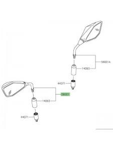 Rétroviseur gauche Kawasaki Z400 (2019 et +) | Réf. 560010395