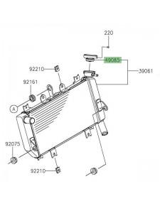 Bouchon de radiateur Kawasaki Z400 (2019 et +) | Réf. 490850015