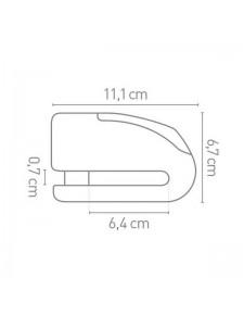 Bloque disque alarme FR15 homologué SRA   Réf. AV242