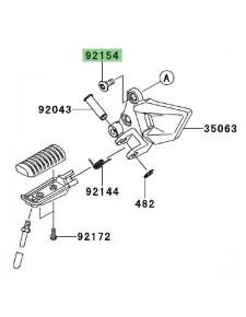 Vis (M8 x 20) pour fixation platine repose-pieds avant Kawasaki Ninja 250R (2008-2012) | Réf. 921501760
