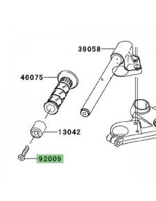 Vis M8x45 fixation embout de guidon Kawasaki Ninja 250R (2008-2012) | Réf. 920091257