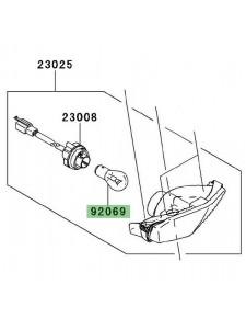 Ampoule (12V-21/5W) feu arrière Kawasaki Ninja 250R (2008-2012) | Réf. 920690032 - 920691084