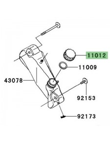Bouchon vase d'expansion d'origine Kawasaki Ninja 250R (2008-2012) | Réf. 110650969