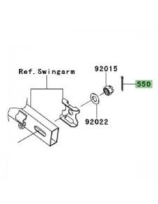 Goupille écrou de roue arrière Kawasaki Ninja 250R (2008-2012) | Réf. 550AA4035