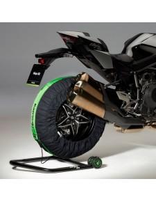 Couvertures chauffantes noires et vertes Kawasaki Ninja H2 (2015 et +) | Réf. 207TYR0003