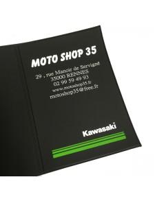 Étui porte carte grise 3 volets Kawasaki Moto Shop 35