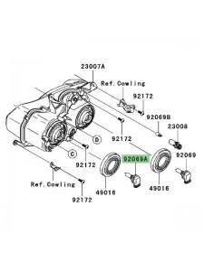 Ampoule H11 (12V/55W) optique avant Kawasaki ZZR1400 (2006-2011) | Réf. 920690056