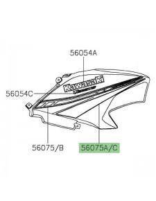 Autocollant inférieur flanc tête de fourche Kawasaki Versys 650 (2019-2020) | Moto Shop 35