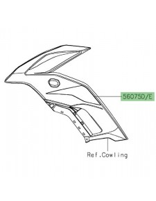 Autocollant flanc de carénage Kawasaki Versys 650 (2019-2020) | Moto Shop 35