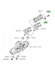 Vis M8x30 fixation pontet supérieur de guidon Kawasaki Versys 650 (2015-2020) | Réf. 120CC0830