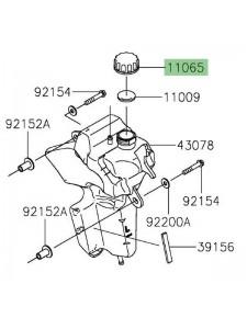 Bouchon de vase d'expansion Kawasaki Versys-X 300 (2017-2018) | Réf. 110650969