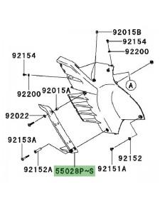 Déflecteur flanc de carénage gauche Kawasaki GTR 1400 (2008-2009) | Moto Shop 35