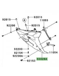 Demi-sabot gauche Kawasaki GTR 1400 (2008-2009) | Réf. 55028019918T
