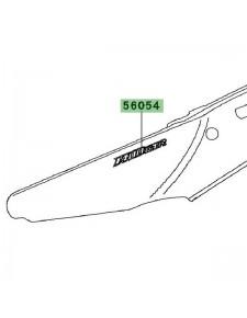 "Autocollant ""1400GTR"" coque arrière Kawasaki GTR 1400 (2008-2009) | Réf. 560540034"