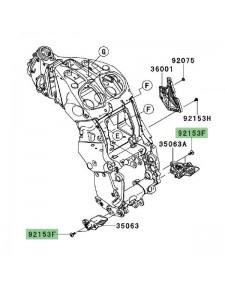 Vis M8x20 fixation platine repose-pied avant Kawasaki GTR 1400 (2008-2016) | Réf. 921531621