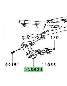 Platine repose-pied arrière gauche Kawasaki GTR 1400 (2008-2009) | Réf. 350630359W9
