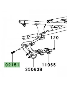 Vis M10x30 fixation platine repose-pied arrière Kawasaki GTR 1400 (2008-2016) | Réf. 921511372