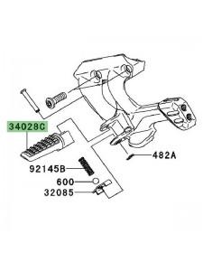 Repose-pied arrière gauche Kawasaki GTR 1400 (2008-2014) | Réf. 340280329