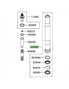Fourreau de fourche Kawasaki GTR 1400 (2008-2009) | Réf. 440080033KX