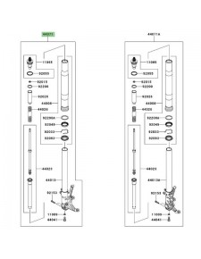 Bras de fourche gauche Kawasaki GTR 1400 (2008-2009) | Réf. 440715054