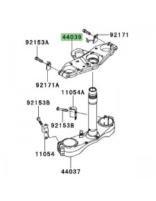 Té de fourche supérieur Kawasaki GTR 1400 (2008-2009) | Réf. 440390052458