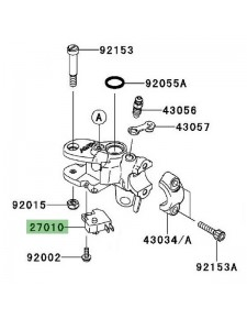 Contacteur de frein avant Kawasaki GTR 1400 (2008-2009) | Réf. 270100025