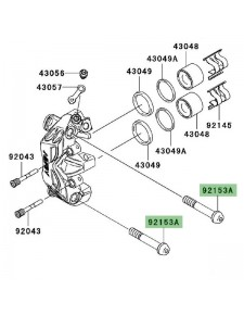 Vis fixation étrier de frein avant Kawasaki GTR 1400 (2008-2016) | Réf. 921531837