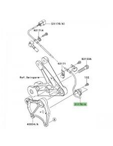 Câble ABS arrière Kawasaki GTR 1400 (2008-2009) | Réf. 211760098