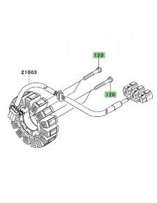 Vis de fixation M6x40 Kawasaki 120CA0640 | Moto Shop 35