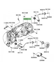 Optique avant Kawasaki GTR 1400 (2008-2016)
