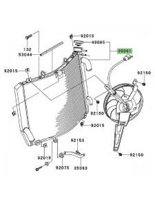 Radiateur d'eau Kawasaki 390610107 | Moto Shop 35