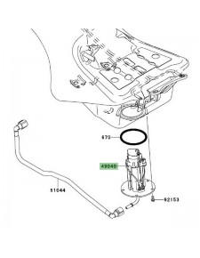 Pompe à essence Kawasaki GTR 1400 (2008-2016) | Réf. 490400024