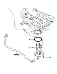 Durite d'essence d'origine Kawasaki 510440816 | Moto Shop 35