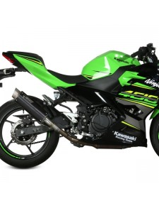Silencieux MIVV GP Pro Inox noir Kawasaki Ninja 400 (2018-2020) | Réf. K.047.LXBP