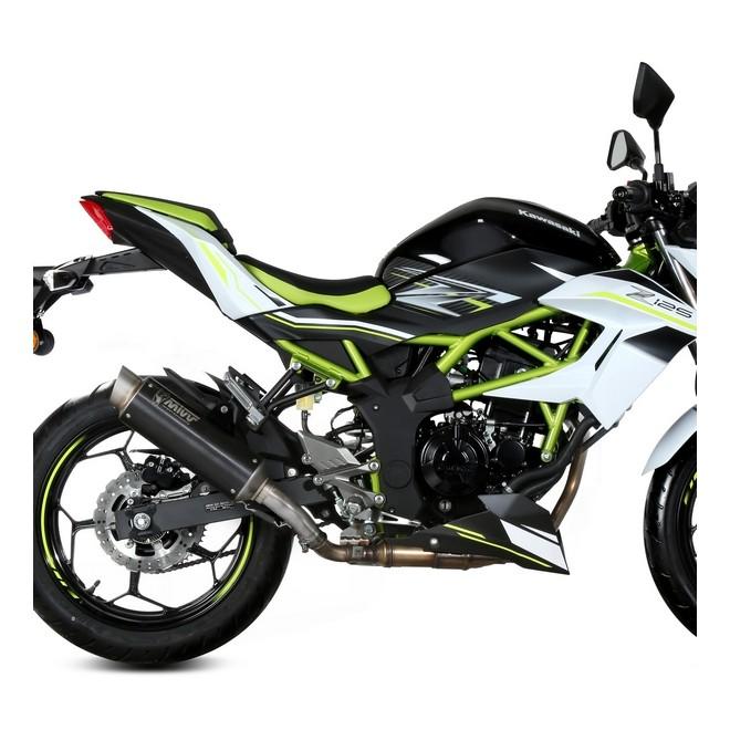 Silencieux MIVV GP Pro Inox Noir Kawasaki Z125 (2019-2020) | Réf. K.048.LXBP