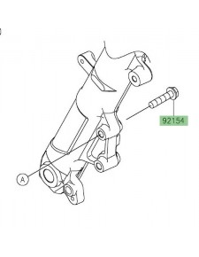 Vis M8x35 fixation étrier de frein avant Kawasaki Ninja 400 (2018-2020) | Réf. 921541646