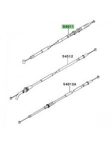 Câble d'embrayage Kawasaki KLX 125 (2010-2016) | Réf. 540110571