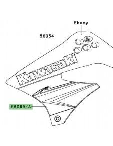 Autocollant inférieur écope latérale Kawasaki KLX 125 (2010) | Réf. 560690329 - 560690330